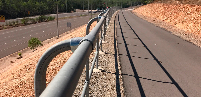 Tiger Brennan Drive Duplication modular handrail system