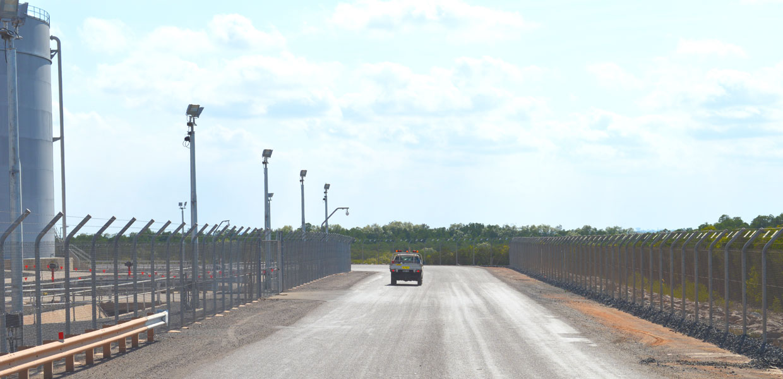 INPEX Icthys LNG fencing