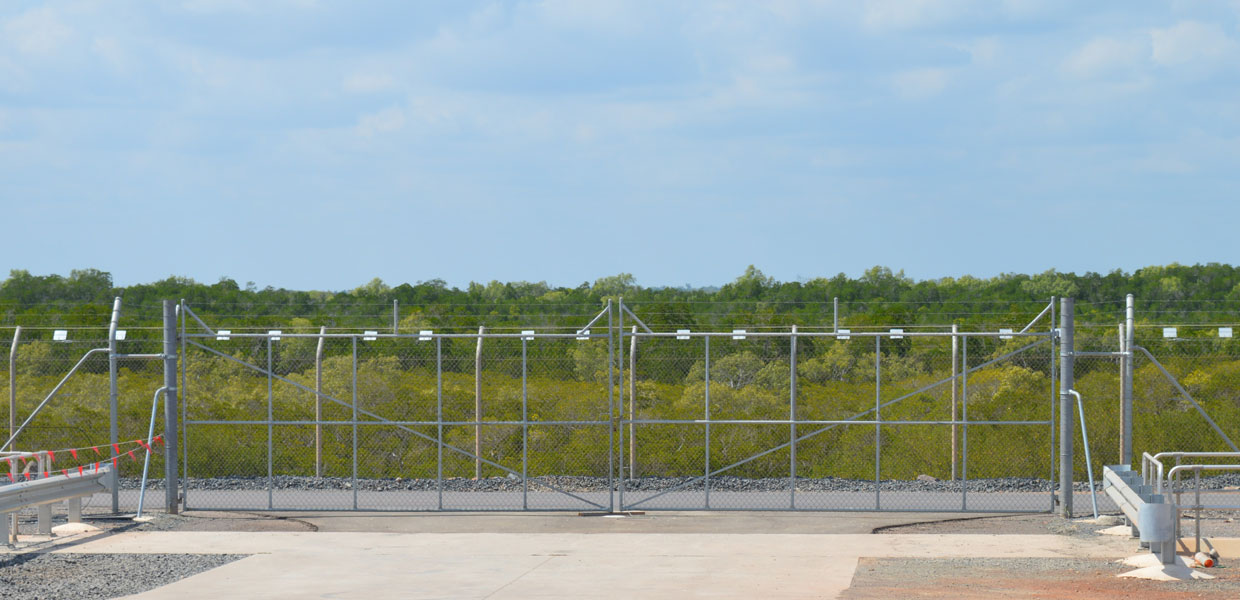 INPEX Icthys LNG Project security fencing