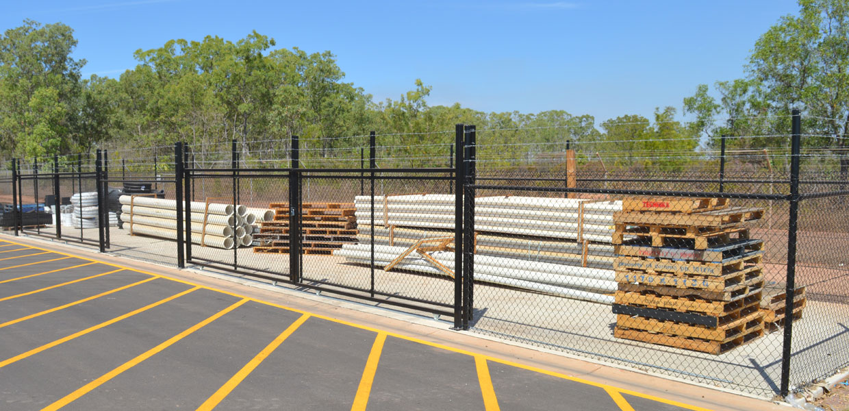 construction site security fencing